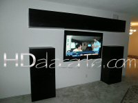TV mounting on wall and cabinetry assembly in Beverly Hills, CA